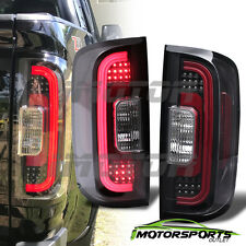 2015 2016 2017 GMC Canyon LED Bar Black Rear Brake Tail Lights Pair
