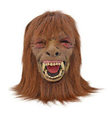 WEREWOLF MASK #WITH BROWN HAIR SCARY HALLOWEEN WOLFMAN FANCY DRESS OUTFIT