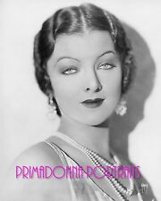 MYRNA LOY 8X10 Lab Photo B&W SEXY HYPNOTIC GAZE '20s GLAMOUR PORTRAIT by AUTREY