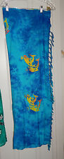 Hibiscus Collection Hawaii Long Sarong - Blue/Orange/Yellow Worn Once