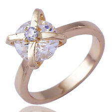 Wedding Diamond Ring for Bridal Size 6 18K Yellow Gold Filled Free Shipping