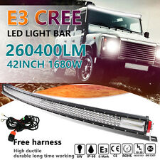 "CREE 8D+ 42"" INCH 1680W CURVED QUAD-ROW LED LIGHT BAR SPOT FLOOD COMBO OFFROAD"