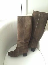 Original Lanvin Paris Stiefel Boots Wildleder Braun EUR Gr 36,5  US 5 UK 3