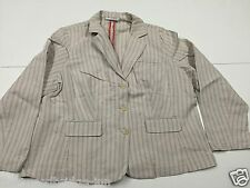 """MARKS & SPENCER AUTOGRAPH SIZE 44"""" CHEST NATURAL / RED STRIPE LADIES JACKET 6Y"""