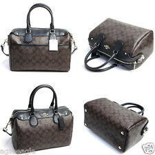 Coach Bag F36187 Signature Bennet Satchel in Brown Black Agsbeagle COD