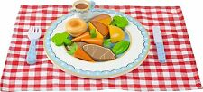Orange Tree Toys ROAST DINNER SET Wooden Play Food Pretend Kitchen Kids BN