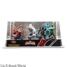 Disney Store Ultimate Spider-Man Figure Play Set Venom Electro Cake Toppers NIB