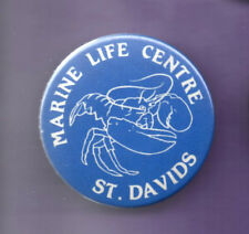Marine Life Centre - St Davids -  Button Badge 1990's