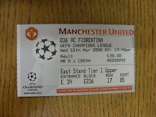 15/03/2000 BIGLIETTO: Manchester United v FIORENTINA [ UEFA CHAMPIONS LEAGUE ]. di