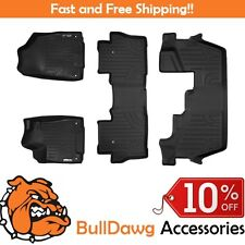 MAXLINER Floor Mats for Honda Pilot 2016 (3 Row Set) (Black)