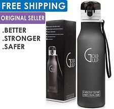 Gold Gulp Hiking Workout Gym BPA Free Strap No Leak Running Sport Water Bottle