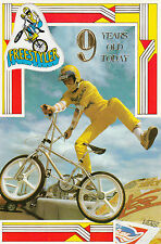 Vintage 1980's GT Performer BMX Happy 9th Birthday Greeting Card ~ 9 Years Old