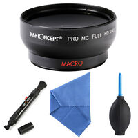 Multi-coated 58mm 0.45X Super Wide Angle Lens + Macro for Canon EOS 1100D 550D