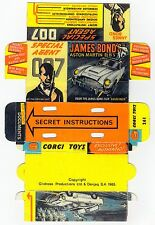 Boîte box Presentoir copie repro Corgi Toys 261 james bond aston martin DB5