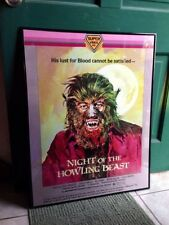 "BASIL GOGOS SUPER VIDEO VHS NIGHT OF THE HOWLING BEAST POSTER 24 x 36"" NASCHY"
