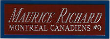 MAURICE RICHARD CANADIENS NAMEPLATE for AUTOGRAPHED Signed Puck Display cube