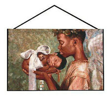 Heaven Sent ~ African American Mother & Child Tapestry Bannerette Wall Hanging