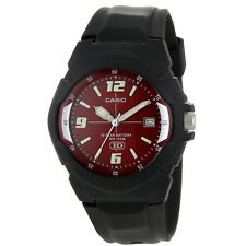 Casio MW600F-4A Mens HD Analog Sports Watch Red Dial - 10 Year Battery 100M New
