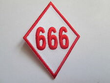 666 Embroidered Iron or Sew on Patch-High Quality - P117