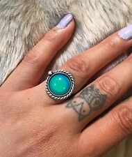 SALE!! Sterling silver mood ring. Handmade. Made To Size.