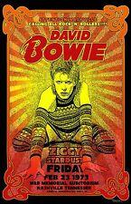 David Bowie 1973 Concert Poster