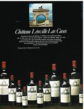Publicité Advertising 1982 Vin Chateau Léoville Las cases