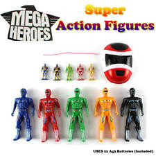 Mega Super Heroes Action Figures Play Set - 11 Piece Power Rangers- Role Toys