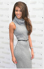 Lipsy Michelle Keegan Belted Knit Rib Size 10 Bodycon Jumper Midi Dress Grey