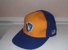 New Adult Mens Retro Milwaukee Brewers MLB adjustable baseball cap hat jersey
