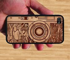 NEW Vintage Camera on Wood Design Rubber Silicone Case Cover For iPhone 6S Plus