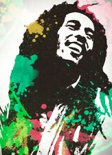 A1 BOB MARLEY LOVE LARGE WALL ART PAINTING PICTURE PRINT POSTER