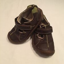 Clarks baby boys brown  leather smart shoes UK infant 7 F - I combine postage
