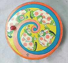 Vintage Tin Noise Maker with Circus Clowns -- U.S.A. by  T. Cohn