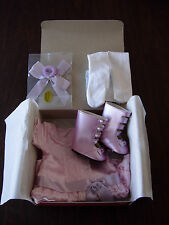 NIB ~ Beforever American Girl Frilly Frock ~ Samantha Dress Boots Hairbow Tights