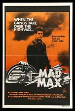 MAD MAX * CineMasterpieces AUSTRALIAN AUSTRALIA RARE ORANGE MOVIE POSTER 1979