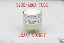 1piece* Gold plated 5755 420A(adapterTOP) TO 12AX7 ECC83 tube converter adapter
