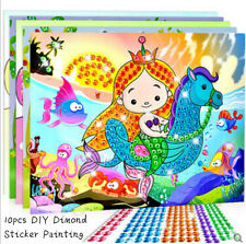 10pcs 3D DIY Round Diamond Sticker Painting Kids Crafts Set with Tracking Number