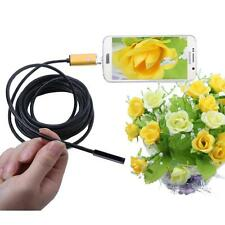 2 in 1 Android USB Endoscope Inspection 7mm Camera 6 LED HD IP67 Waterproof 2M
