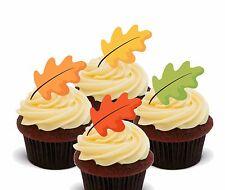 Caída de hojas de otoño-Obleas cupcake toppers, Hada Cake Bollo Vertical Para Decoraciones