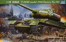 TRUMPETER® 00902 WWII Soviet T-34/85 Tank (1944) Factory Nr.183 in 1:16