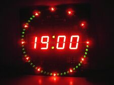 51 mcu electronic clock rotating led digital Uhr ds1302 clock 18b20 temperature