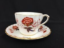 Royal Crown Derby Phone China BALI Imari Flat Cup And Saucer Made In England