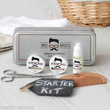 Mo Bro's Grooming Tin Gift Set - 6 Pcs Inc Balm, Wax, Oil, Comb - Cedarwood