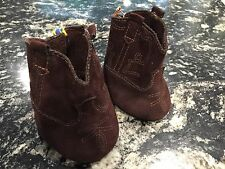 Build A Bear Shoes Brown Suede Western Cowboy Boots Stitching Design On Side EUC