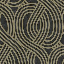 Carat Black and Gold Glitter Art Deco Wallpaper Paste the Wall Vinyl 13345-80