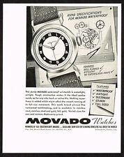 1940's Vintage 1942 Movado Watch Co. - Paper Print AD [b]
