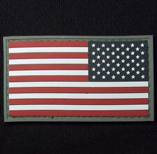 3D PVC USA US UNITED STATES AMERICAN FLAG TACTICAL ISAF FULL COLOR REVERSE PATCH