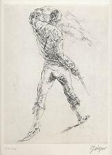 Willi Geiger. el matador. original-aguafuerte, firmado/numerados