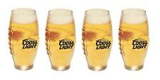 COORS LIGHT MOUNTAINS 4 FOOTBALL SHAPED BEER PUB GLASSES NEW