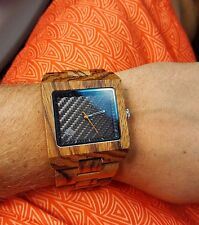 Wood Watch, black watch, Wooden watch,mens watch, handmade wristwatch